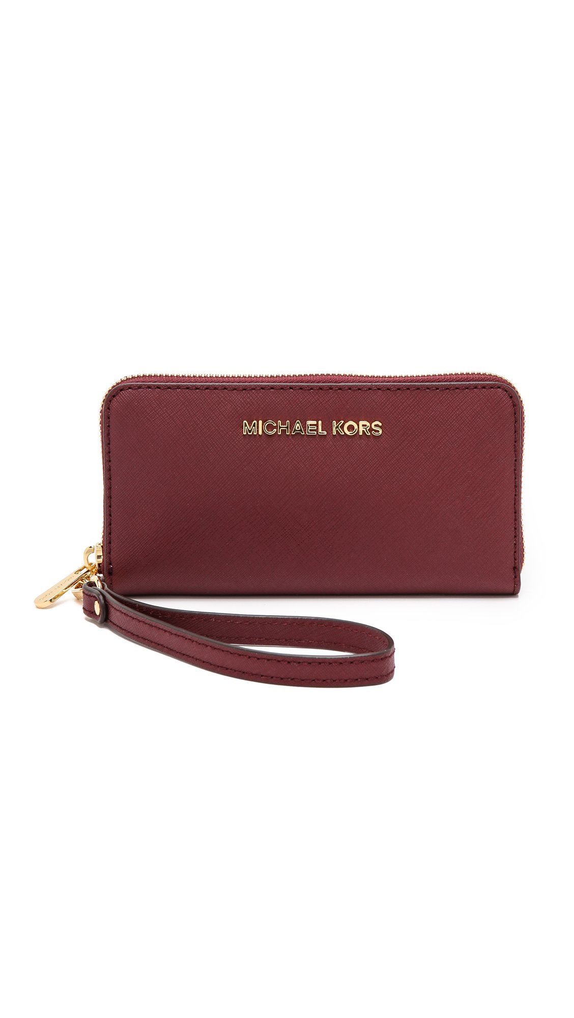 MICHAEL Michael Kors Women's Large Coin / Phone Case, Claret, One Size
