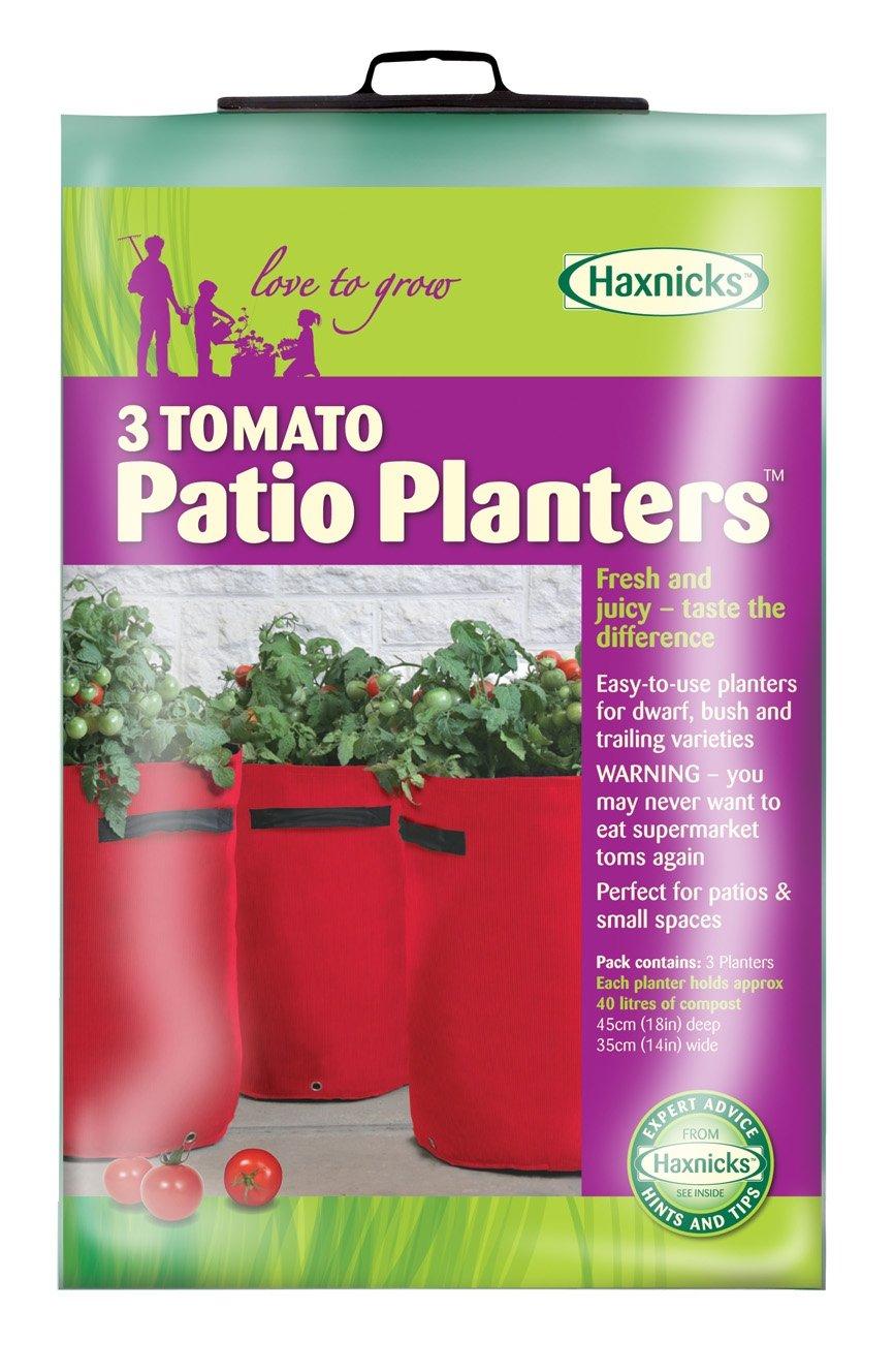 Tierra Garden 50-1050 Haxnicks Tomato Patio Planter and Grow Bag, 3-Pack