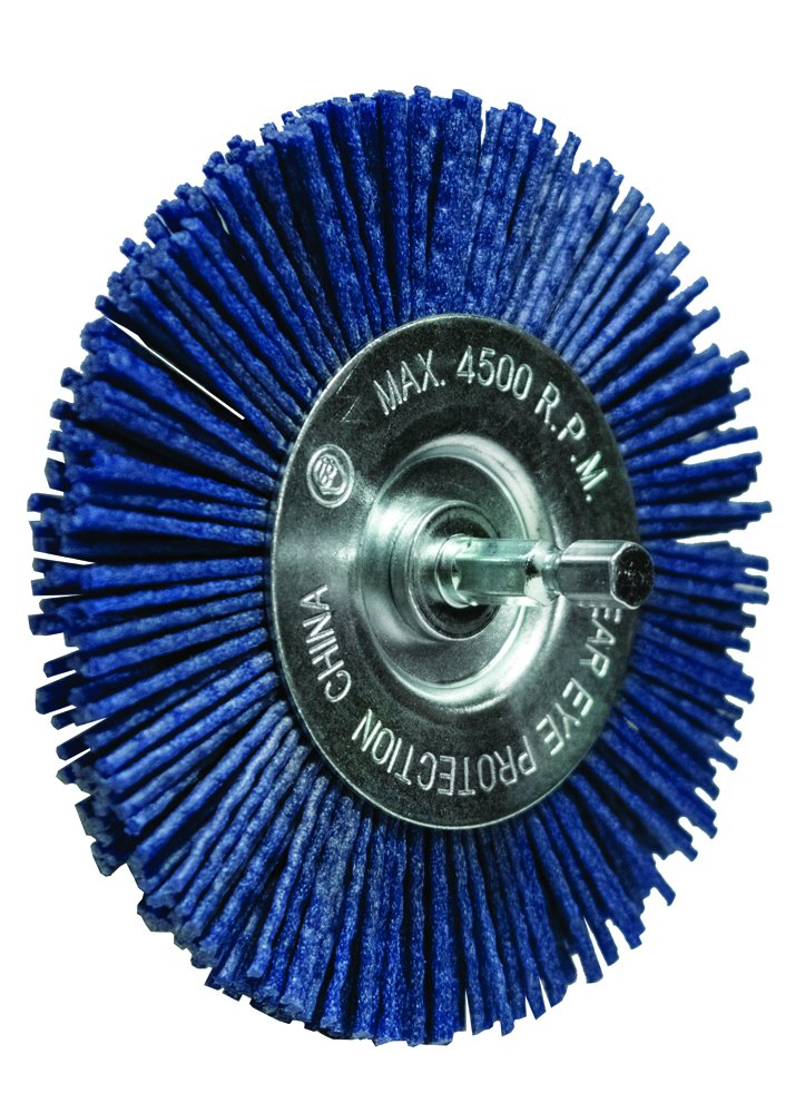 Century Drill and Tool 77443 Fine Nylon Abrasive Radial Brush, 4-Inch by Century Drill & Tool (Image #1)