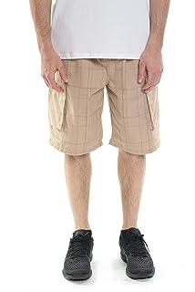 8ebb3964fe Cargo Shorts for Men Elastic Waist Casual Cotton Twill Drawstring ...