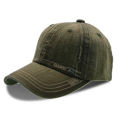 UPhitnis Unisex Cotton Basecap Schirmmütze Low Profile Texture ...