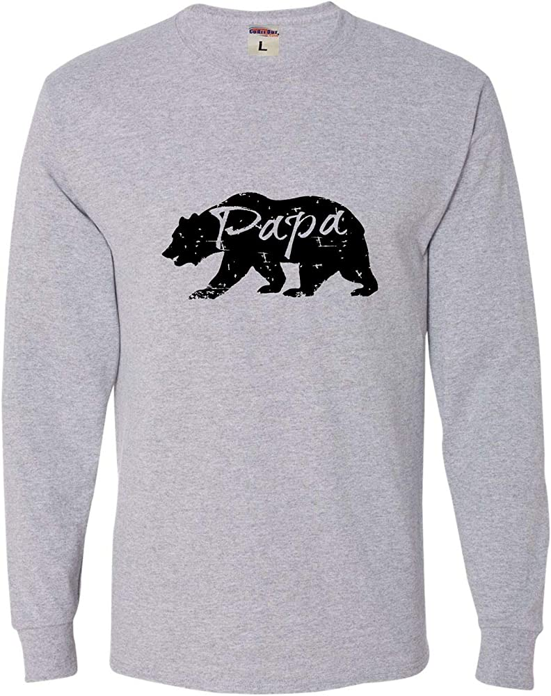 Adult Papa Bear Distressed Father S Day T Shirt 3683