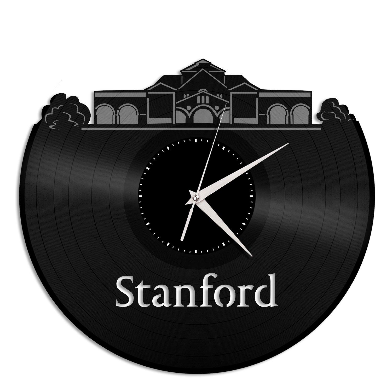 スタンフォード大学vinylshopusビニール壁時計City Skyline Uniqueギフトホーム部屋装飾 ホームDecor B07CRN29MW Skyline B07CRN29MW, iicotoカスタム絵本shop:8c20dfb6 --- ijpba.info