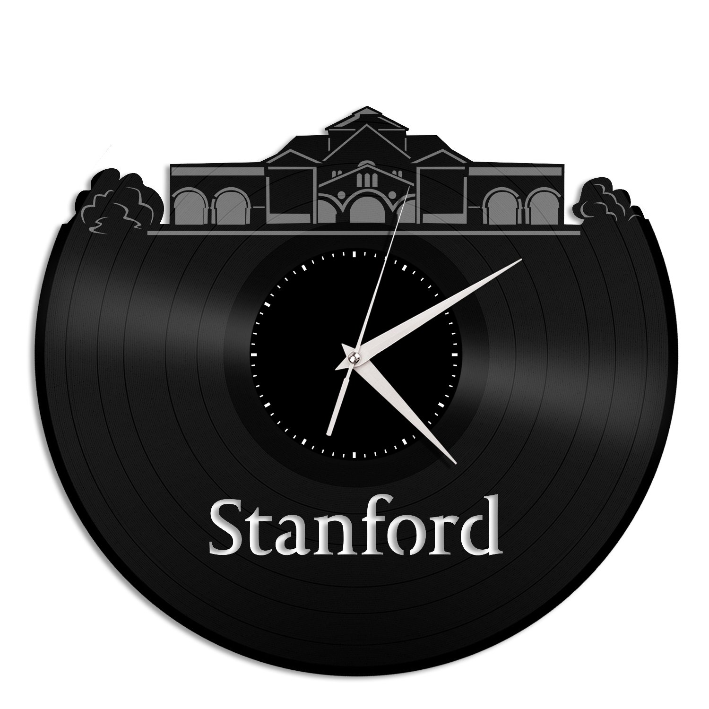 VinylShopUS - Stanford University Vinyl Wall Clock City Skyline Unique Gift Home Room | Unique Gift for Student| Home Decoration