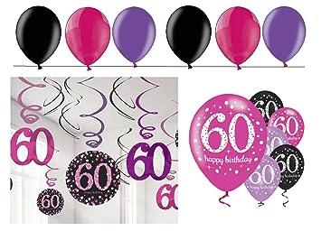 celebran fijo para 60 cumpleaños I 24 piezas techo colgador ...