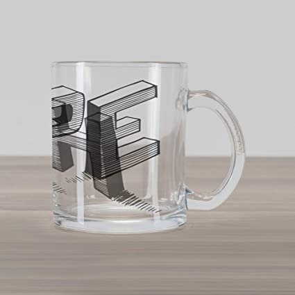 1828e597331 Ambesonne Hope Glass Mug, Sketch Letters with Stripes Spelling Hope Hand  Drawn Calligraphic Arrangement,