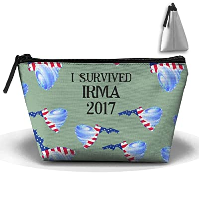 f3671ea4bd I Survived Irma 2017 Funny Unisex Multifunction Zipper Pouch Bag Make-up  Makeup Bag Cosmetic