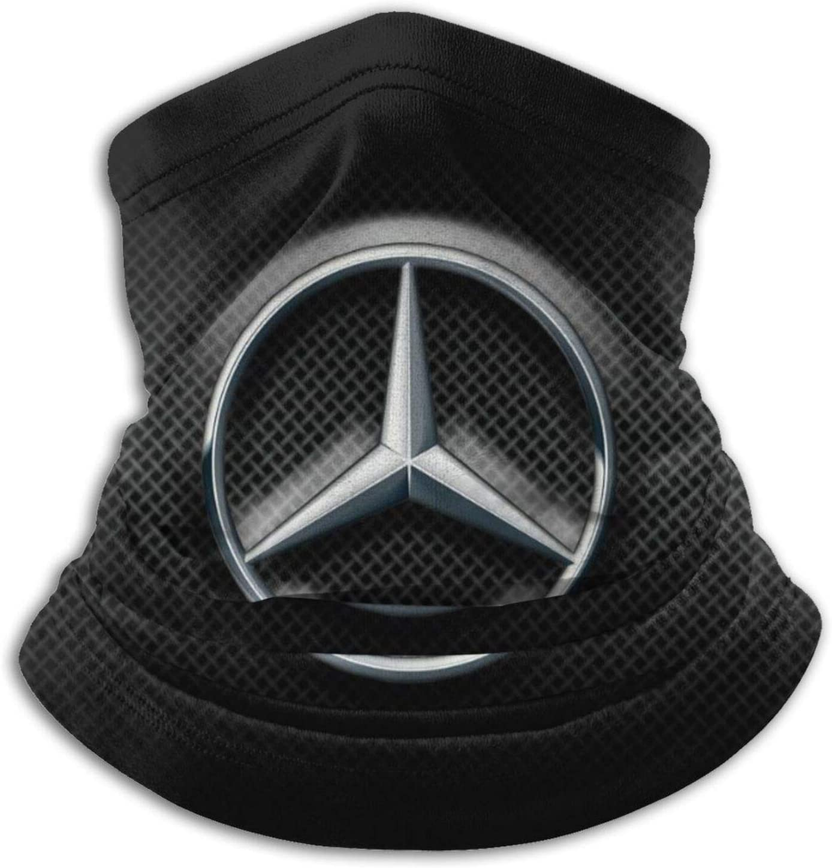 Custom made Mercedes Benz Logo Neck Gaiter Warmer Unisex Warm Circle Loop Scarves For Winter Outdoor Sports