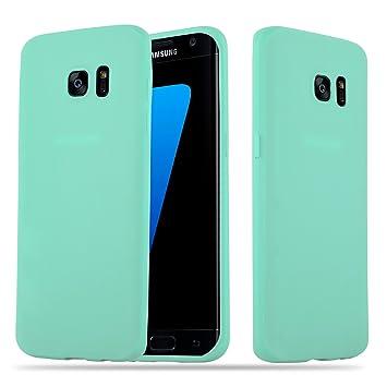 Cadorabo Funda para Samsung Galaxy S7 Edge en Candy Azul – Cubierta Proteccíon de Silicona TPU Delgada e Flexible con Antichoque – Gel Case Cover ...