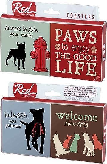 Amazonde Pfoten To Enjoy The Good Life Hund Sprüche 4