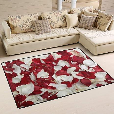 Xianghefu Personalized area Rugs rosso e rosa bianca 3 \'x2\' (91,4 x ...