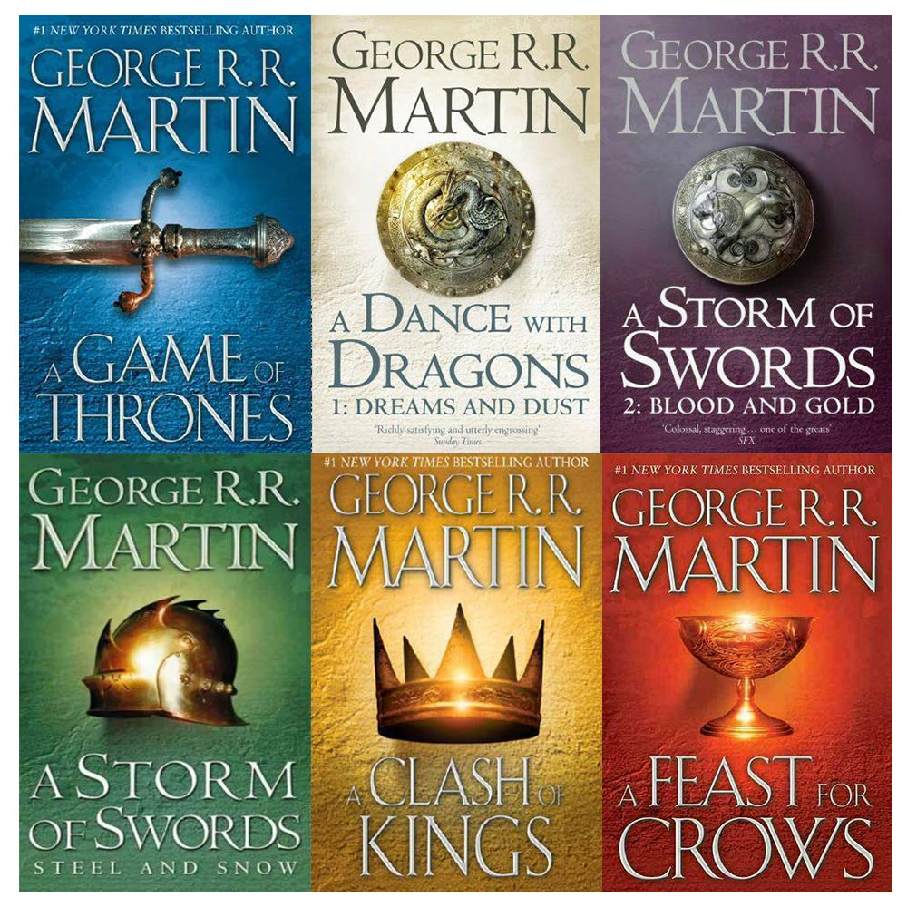 Game Of Thrones Collection George R R Martin 6 Books Set A Dance With Dragons A Feast For Crows A Storm Of Swords Blood And Gold Part 2 A Game Of Thrones George