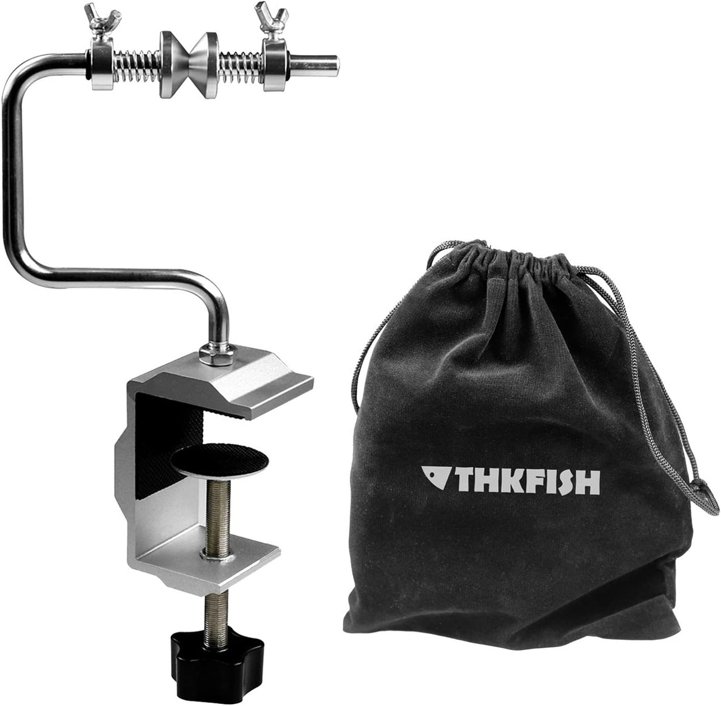 thkfish Fishing Line Winder Fishing Line Spooler System Adjustable Stable Protable Fishing Line Spooler Fishing Line Winder with Clamp Spooler System