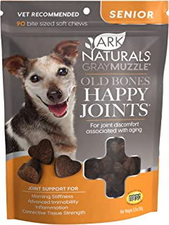 product image for Ark Naturals Gray Muzzle Old Dogs! Happy Joints! Maximum Strength Chews for Large Breeds, for Cats and Dogs, Vet Recommended to Support Cartilage and Joint Function, 500 mg Glucosamine