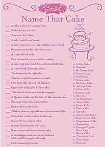 Darice Victoria Lynn Bridal Shower Game Pad - Name That Cake