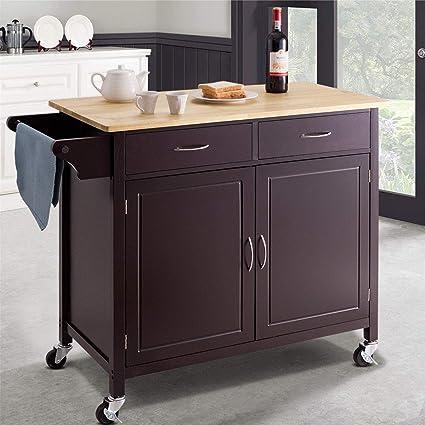 Amazon.com - MarketDream Modern Rolling Kitchen Cart Island ...