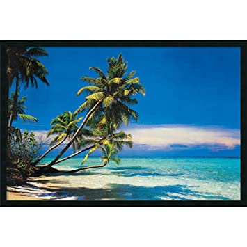 framed art print tropical beach outer size