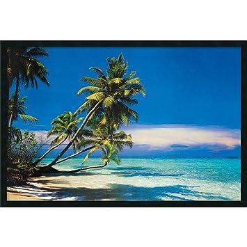 framed art print tropical beach outer size