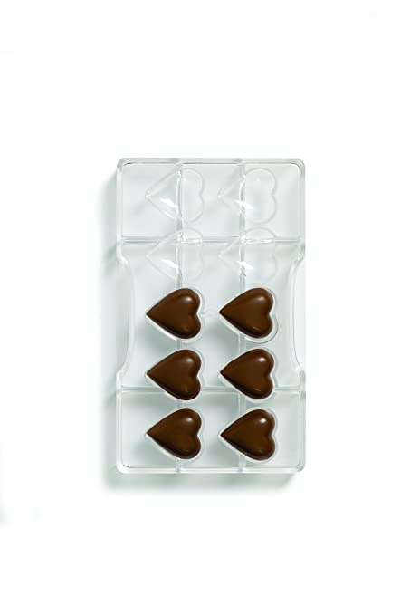 200 x 120 x 22 mm Decora Stampo Cioccolatino Geometrico Trasparente Policarbonato