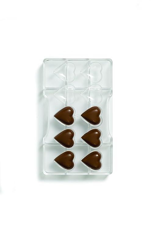 DECORA Corazón Molde con 10 cavidades, de policarbonato, Transparente, DE 32,5