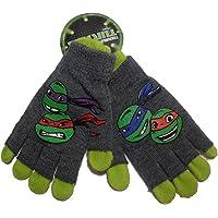 Teenage Mutant Ninja Turtles TMNT Childrens Kids Double Layer Gloves Green Grey Rubber