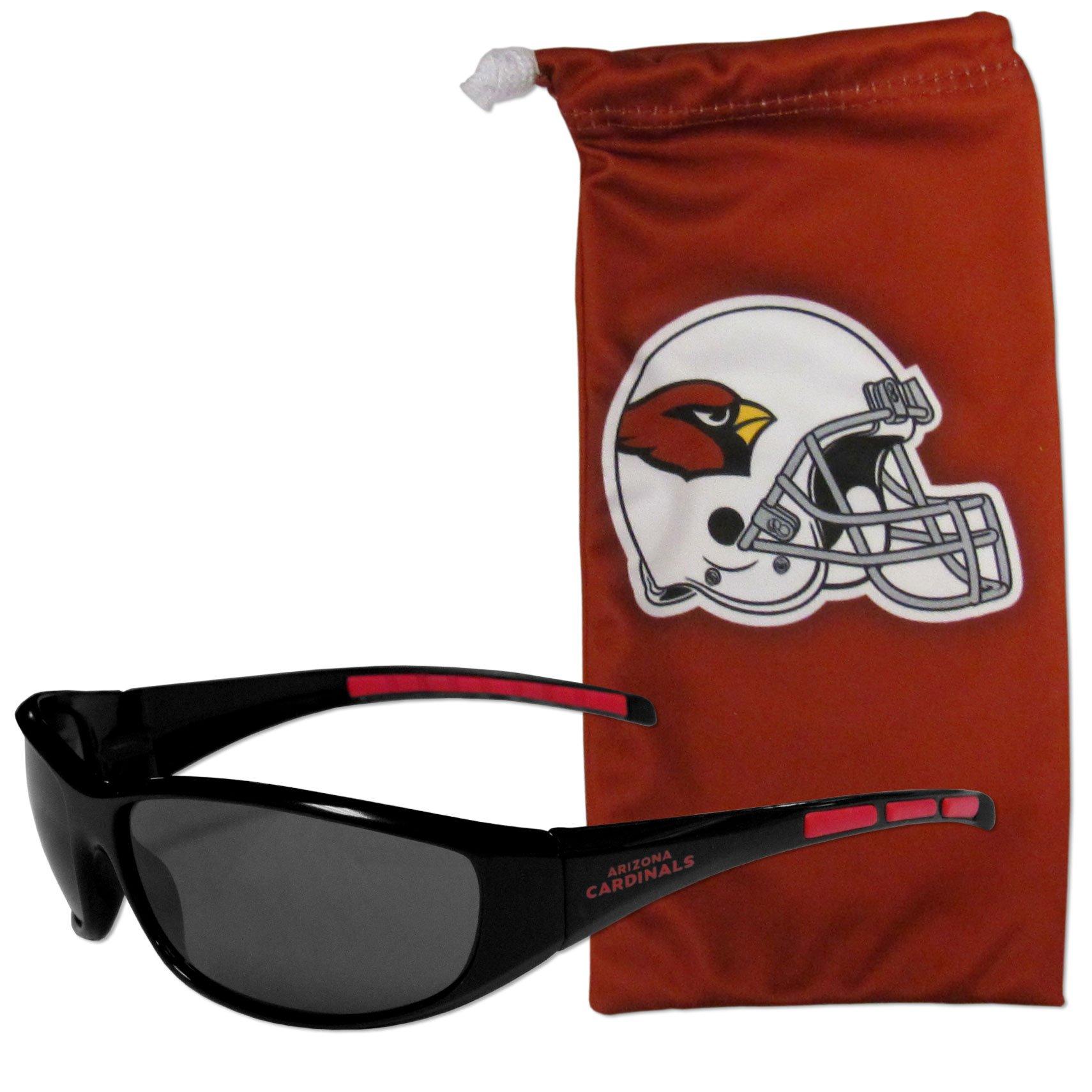 NFL Arizona Cardinals Adult Sunglass and Bag Set, Red