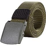 LvRao Unisex Militare Sportiva Tattica Cintura Camo Pantaloni Cintura con Fibbia Cintura di Tela (#1 Esercito verde)