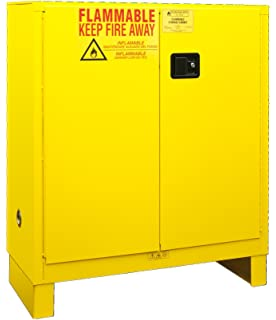 Eagle Safety Cabinet for Flammable Liquids, 2 Manual Doors, Steel ...