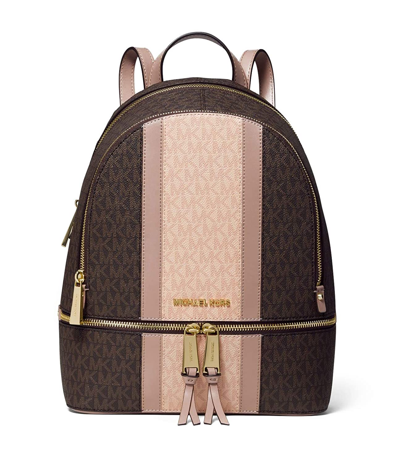 13d7ed5f4351 Amazon.com | MICHAEL Michael Kors Rhea Zip Medium Backpack (Brown/Fawn  Stripe) | Casual Daypacks