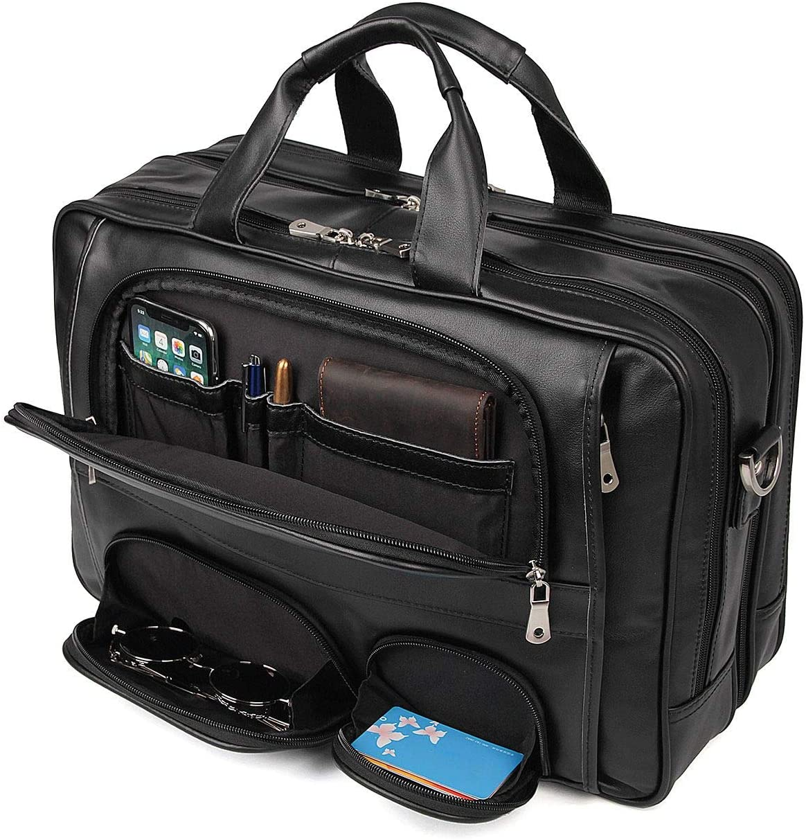 Multicolored Stripe Waterproof Laptop Case Fashion Printing Durable Shoulder Briefcases for 16 inch Laptop
