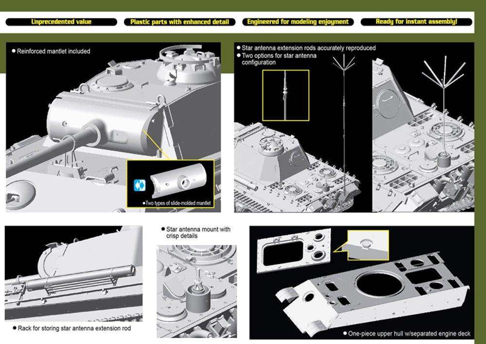 DRAGON 6847 Befehls Panther Ausf.G 1:35 Tank Model Kit: Amazon.co.uk ...