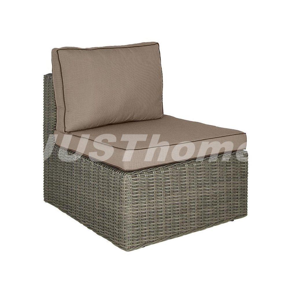 JUSThome Mittelmodul Gartenmöbel Lounge RODOS (HxBxL): 66x78x68 cm Grau