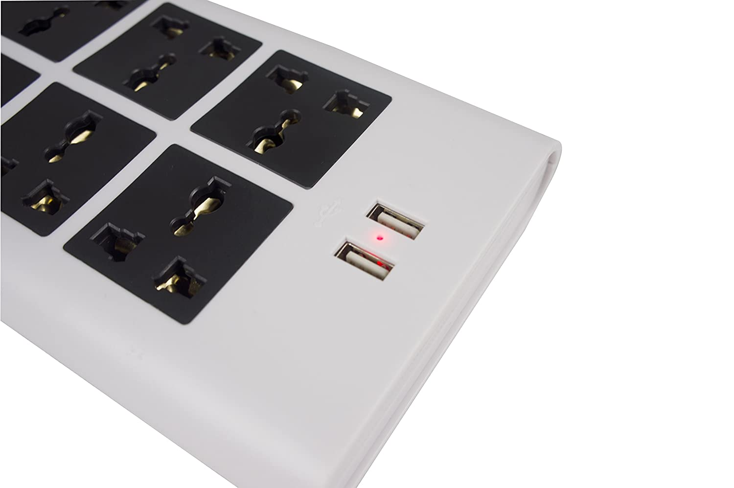 Amazoncom Universal Power Strip 6 Outlets 100v To 220v 250v And Circuit Breaker Protection Electronics Accessories 2500 Watts Surge Protector With For Worldwide Use