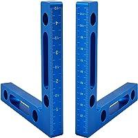 """NeeyBing 2 stuks 90 graden 4,7 """"x 4,7 """"positioneren vierkanten, 90 ° L-type hoekklem, haakse klemmen houtbewerking…"""