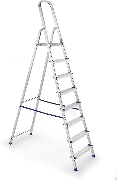 Framar Europiuma 8 Escalera doméstica de Aluminio, 8 Peldaños: Amazon.es: Hogar