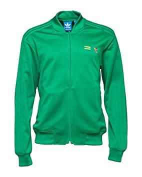 f86f436ec26b6 Image Unavailable. Image not available for. Colour  ADIDAS ORIGINALS  PHARRELL WILLIAMS SUPERCOLOUR GREEN TRACK TOP ...