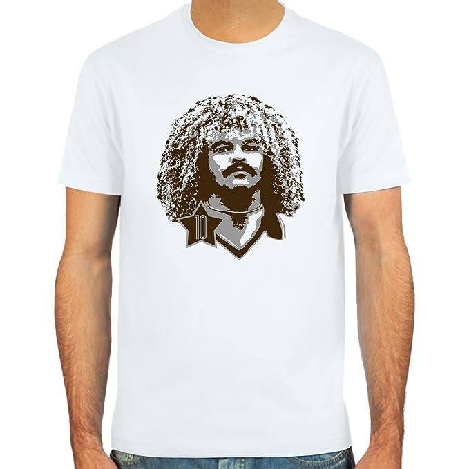 sand or white skyblue SpielRaum T-shirt Carlos Valderrama Colour Sizes S-XXL : : football