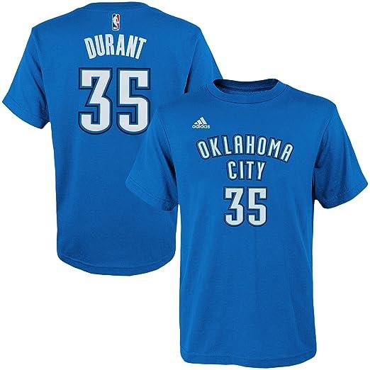 Kevin Durant Oklahoma City Thunder Blue Name   Number Kids T-Shirt (Kids 7 e9be7c8c0