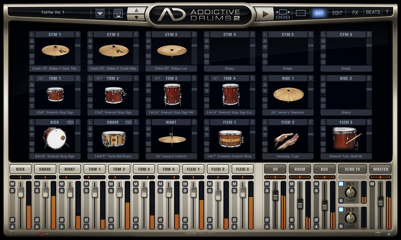 XLN Audio Addictive Drums 2 ソフトウェアドラム音源