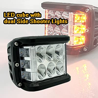 2PCS LED Cubes,War-Horse Dual Side Shooters LED Works 4 Inch 36W LED Pod Off Road Driving Fog Lights waterproof LED Bars for Car Truck Jeep Pickup Boat SUV: Automotive
