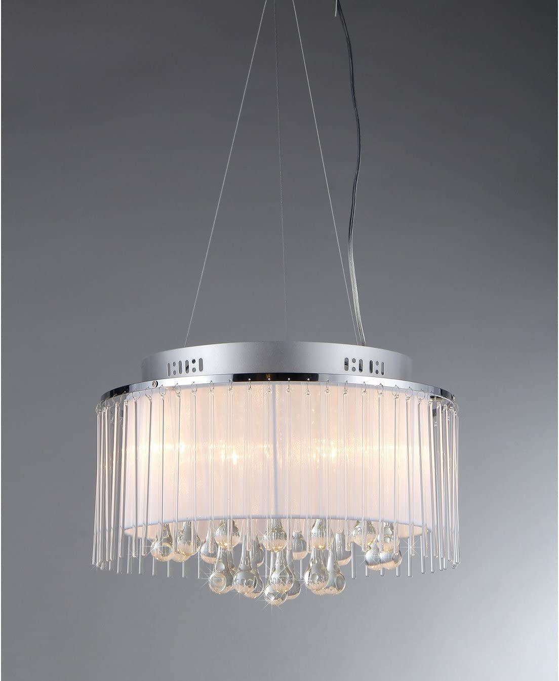 Whse of Tiffany RL7904-6 Ares Chrome Five-Light Chandelier