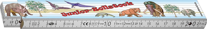 550003 ZOLLSTOCK ein lustiges Geschenk f/ür M/ädchen und Jungen. Schaeffer-Marketing Witziger Kinder Gliederma/ßstab//Meterstab 2 Meter mit Motiv Dinosaurier