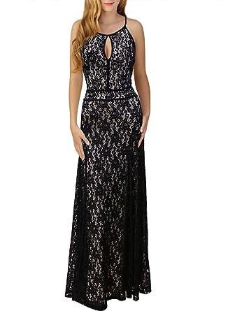 8a85911d5d6d Missmay Women's Formal Ball Gown Vintage Retro 70s Halter Flocked Tattoo  Evening Party Maxi Long Dresses