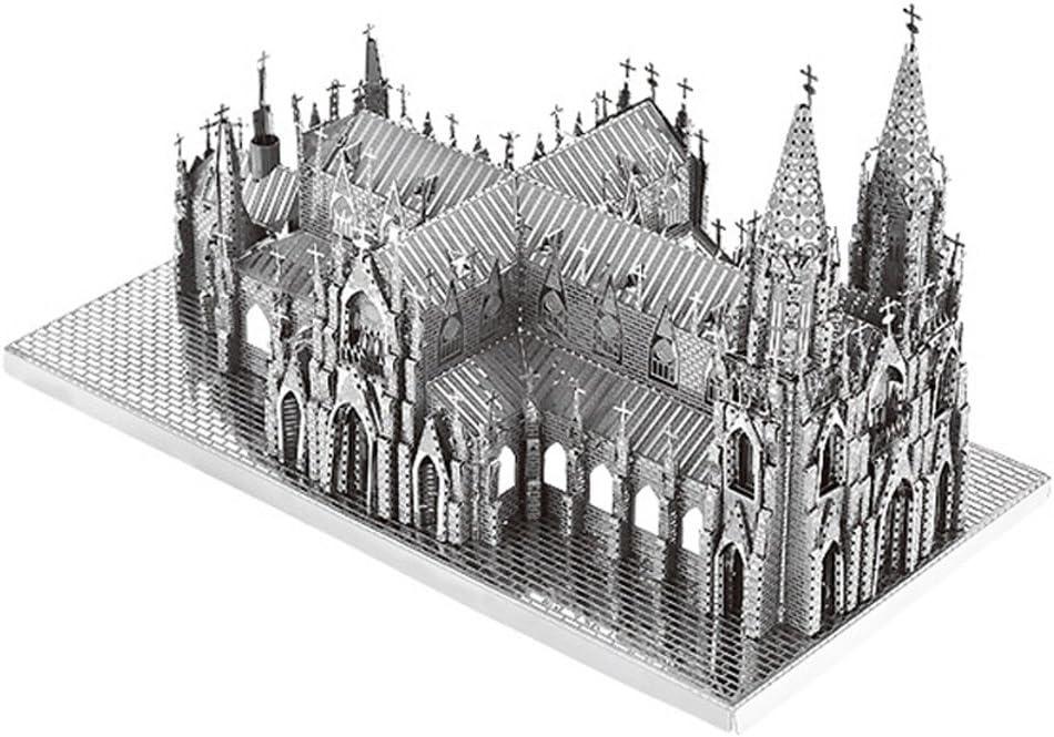 MOTU 3D Metal Puzzle St. Patrick's Cathedral Assemble Model Kits B32201 DIY 3D Laser Cut Jigsaw Toys