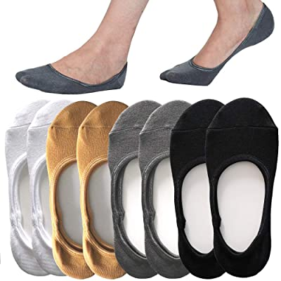 4 to 8 Pack No Show Socks Women Casual Low Cut Sock Liners With Non Slip Grips Women's Cotton Invisible Socks at Women's Clothing store