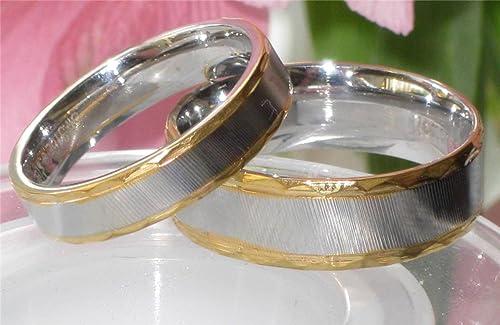 Yourjewellerybox - Anillo con detalle de anillo de matrimonio - acero inoxidable, talla 19 (