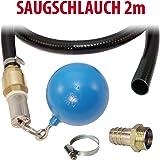 Ansaug-Set 1 mit 2m Saug-/Druckschlauch, Schwimmerkugel, Schlauchtülle und Rückschlagventil aus Messing, Ansaugkorb aus rostfreiem Edelstahl. Nie wieder Ansaugprobleme oder Pumpenausfall durch Sedimente!