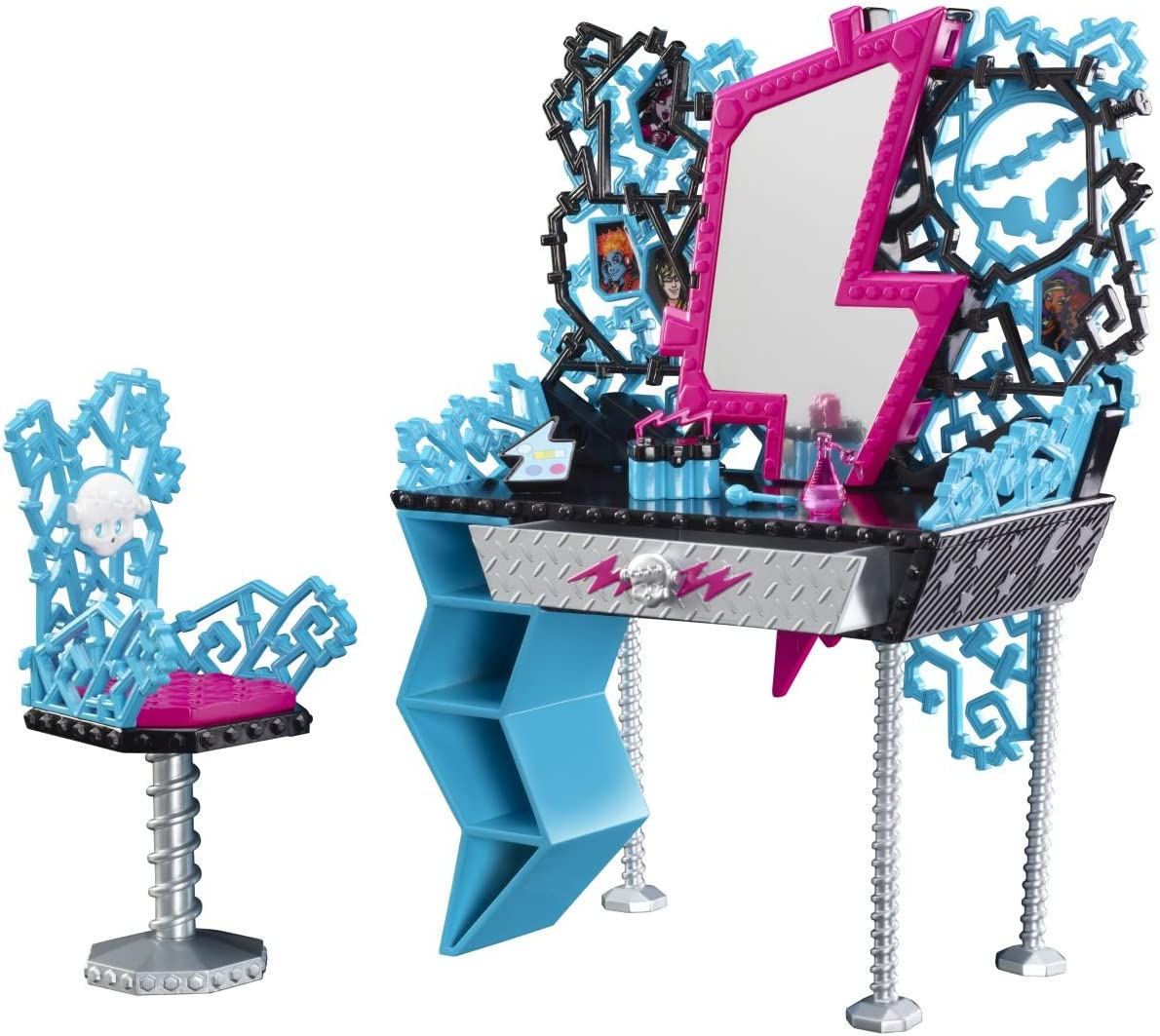 Monster High Playset Frankie Stein Vanity And Chair Set Fashion Doll Accessory Amazon Co Uk Toys Games