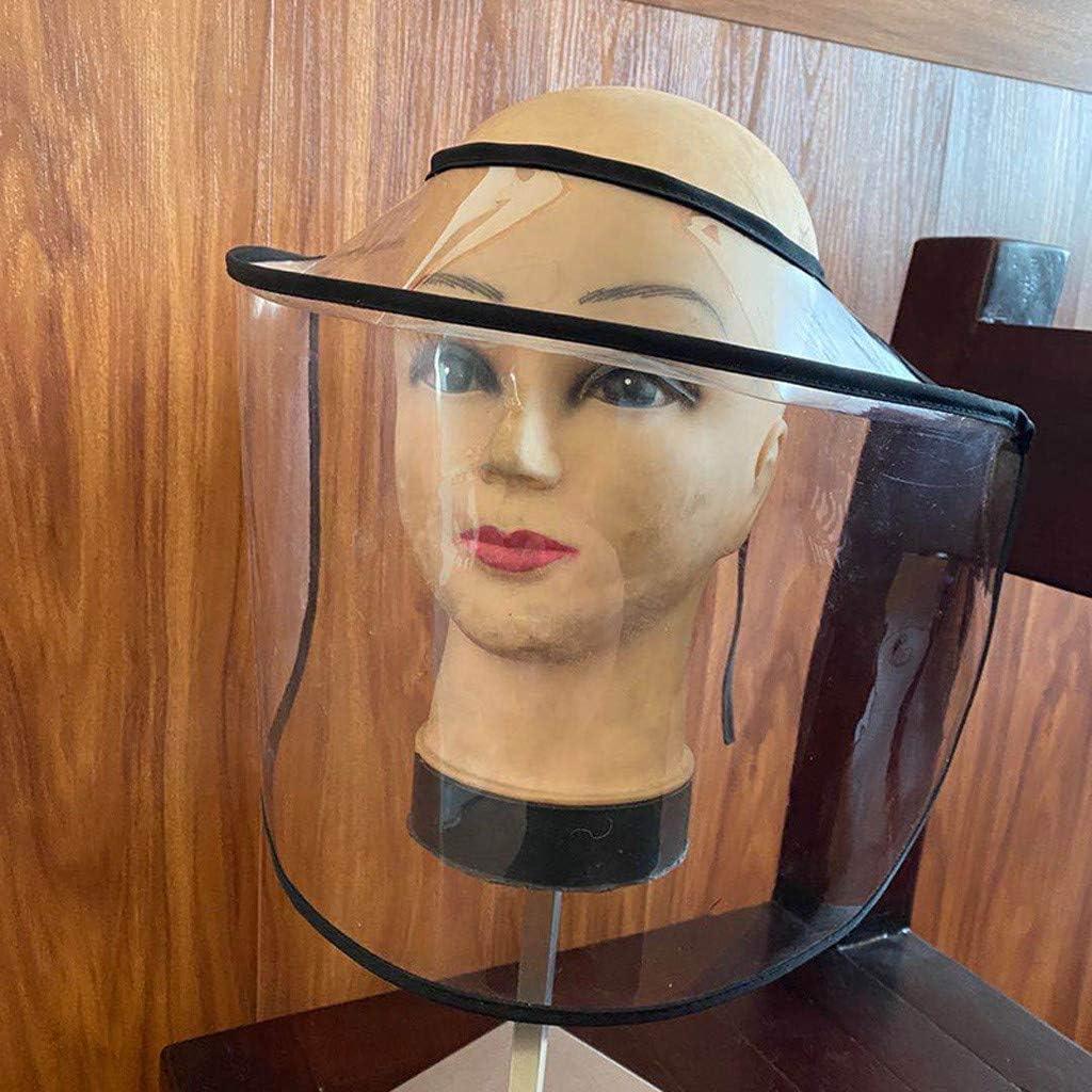 Anti-Spitting Protective Face Hat Adults Shield Fisherman Hat Anti-Spitting Bucket Hat Dustproof Splash Facial Cover Large Brim Saliva Protection Cap Anti UV Sun Cap for Women and Men