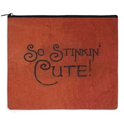 """Stinkin' Cute"" Canvas Toiletry Bag"